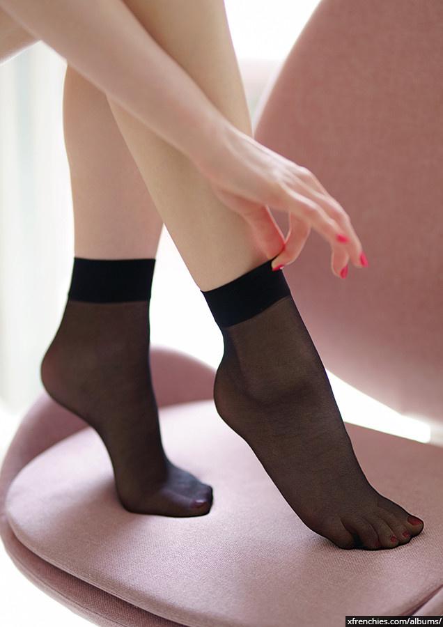 Stocking tube   Femme sexy en collant, photo de pied n°10