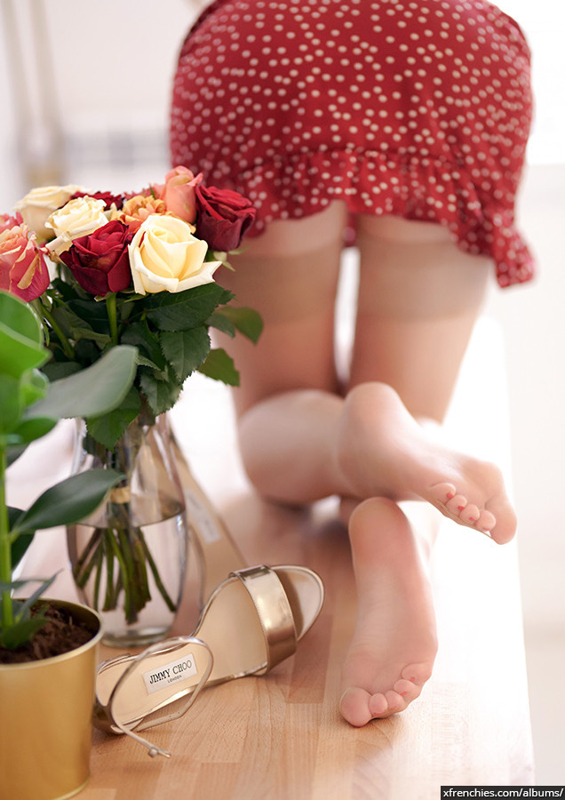 Stocking tube   Femme sexy en collant, photo de pied n°13