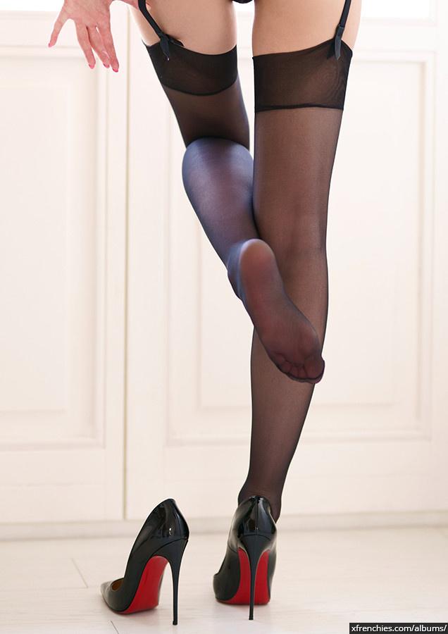 Stocking tube   Femme sexy en collant, photo de pied n°18