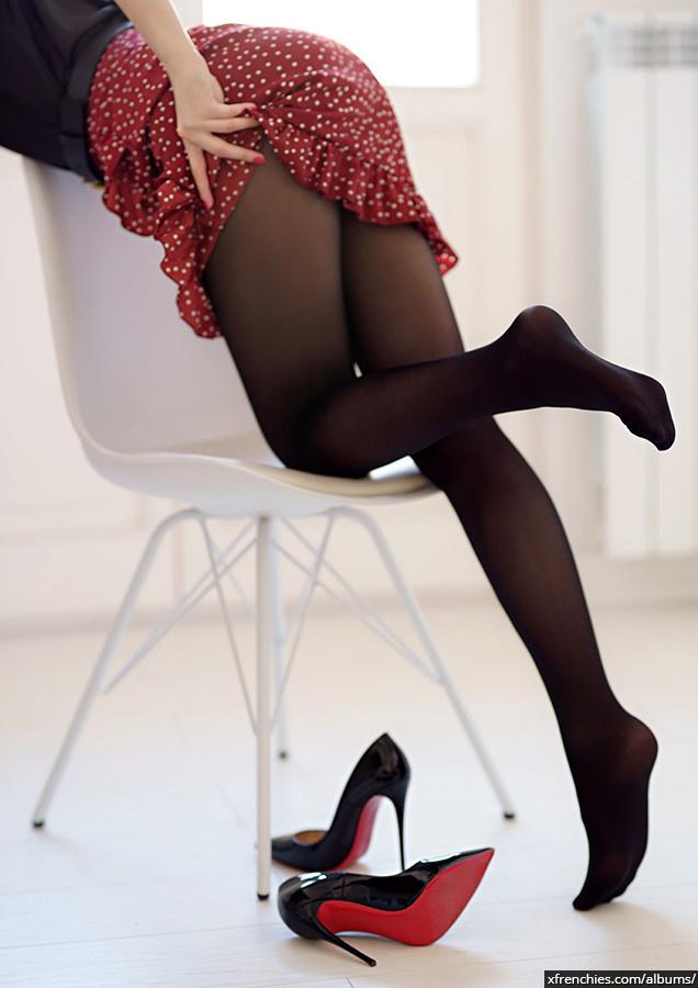 Stocking tube   Femme sexy en collant, photo de pied n°5