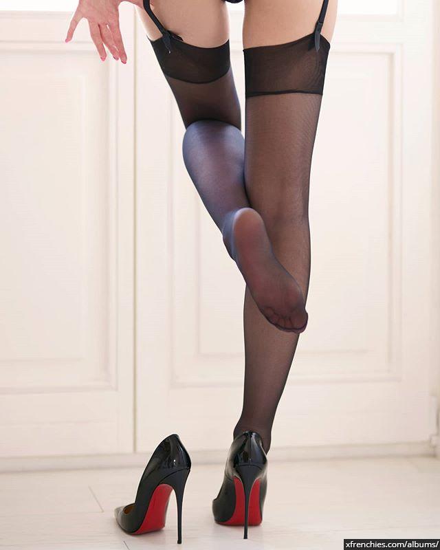 Stocking tube   Femme sexy en collant, photo de pied n°24