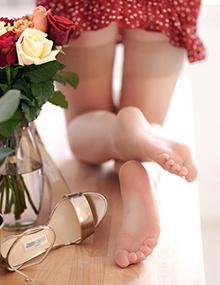 Stocking tube   Femme sexy en collant, photo de pied